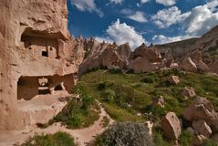 Zelve valley in Cappadocia Stock Photo
