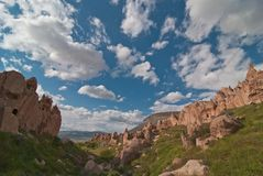 Zelve valley in Cappadocia Stock Images