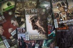 Zem a Vek magazines. Zem & Vek is an alternative conspiracy magazine based in Slovakia. Bratislava, Slovakia, june 24, 2018: Zem a Vek magazines. Zem & Vek is an royalty free stock photos
