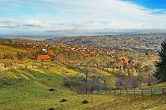 Zemelen - Poarta-dorp in Brasov, Transsylvanië Roemenië Stock Afbeeldingen