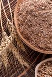Zemelen van tarwe royalty-vrije stock afbeelding