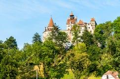 Zemelenkasteel, beroemd voor de Dracula-legende roemenië royalty-vrije stock foto