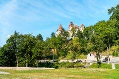 Zemelenkasteel, beroemd voor de Dracula-legende roemenië royalty-vrije stock afbeeldingen