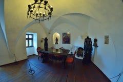 Zemelenkasteel, ook genoemd het Kasteel van Dracula, in Zemelen, Roemenië Stock Afbeeldingen