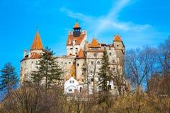 Zemelenkasteel, Roemenië, voor het verhaal van Dracula wordt gekend die stock afbeeldingen