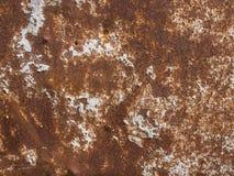 Zement auf alten Rusty Steel Lizenzfreie Stockfotos