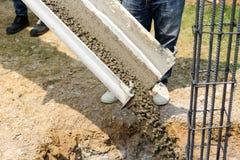 Zement für Wohnungsbau Stockfoto