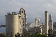 Zement-Fabrik Lizenzfreies Stockbild
