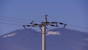 Zement konkreter Pole für Elektroindustrien stockbilder