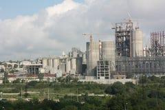 Zementfabrik stockfoto
