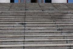 Zementschritt-moderne Architekturstruktur Lizenzfreies Stockbild