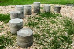 Zementzylinder in Form der Wendeltreppe lizenzfreies stockbild
