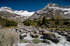 A Zemmground, alpi di Zillertaler Immagini Stock Libere da Diritti