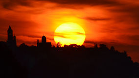 Zemun (Gardos) no por do sol Foto de Stock