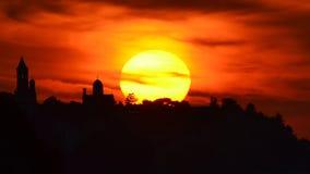 Zemun (Gardos) at sunset Stock Photo