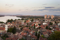 Zemun i Belgrade panorama Fotografia Royalty Free