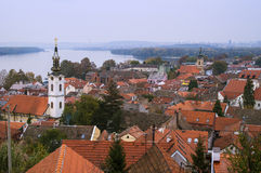 Zemun roofs. Belgrade Serbia. A view on the old part of Zemun Royalty Free Stock Photo
