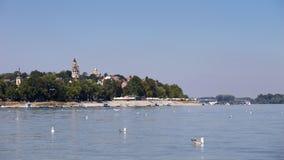Zemun, Serbia, vista dal fiume Danubio Immagine Stock Libera da Diritti