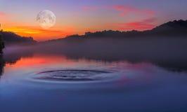 Zen湖平静 免版税图库摄影