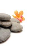 Zen. Stones on white background Royalty Free Stock Images