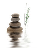 Zen. Stones with beautiful reflection royalty free stock images