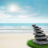 Zen-als stenenneiging Royalty-vrije Stock Afbeeldingen