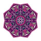 Zen art inspired vector flower mandala design. Zen art inspired flower mandala design. Abstract ornamental geometric decorative element vector illustration
