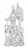 Zen art stylized snail Royalty Free Stock Photography