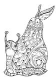 Zen art stylized snail Royalty Free Stock Images