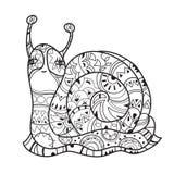 Zen art stylized snail Royalty Free Stock Image