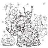 Zen art stylized snail Stock Image