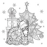 Zen art stylized snail Stock Photo