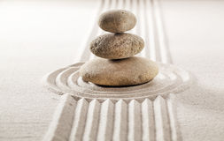 Zen balance for concentration and wellbeing Stock Photo