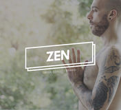 Zen Balance Health Live Life State Mindful Breath Concept Royalty Free Stock Photos
