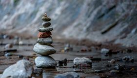 Zen and Balance in Nature stock image