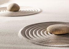 Zen balance with stones and sand Royalty Free Stock Photo