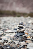 Zen balanced stones stack balance peace silence concept Royalty Free Stock Photo