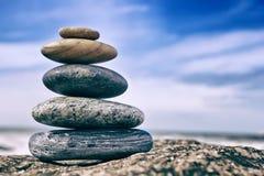 Zen Balancing Pebbles foto de archivo