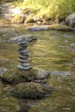 Zen balancing pebbles from river stones stack. Tranquil Concept stock images