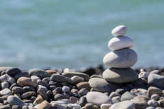 Zen Balancing Pebbles Stone Stack Stock Foto's