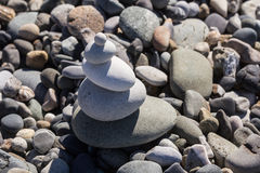 Zen Balancing Pebbles Stone Stack. Tranquil Concept Royalty Free Stock Photo