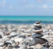 Zen balansująca kamień sterta Zdjęcia Royalty Free