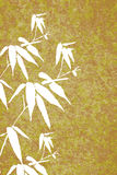 Zen Bamboo vintage painting illustration poster Royalty Free Stock Photography