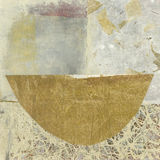 Zen Bowl. Simple abstract asian paper collage of a bowl Stock Images
