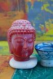 Zen Buddha Contemplation colorido imagens de stock