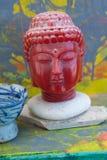 Zen Buddha Contemplation colorido imagens de stock royalty free