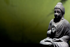 Zen buddha statue stock photography