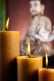 Zen of a buddha, vivid colors, natural tone Stock Photos