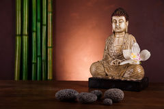 Zen of a buddha, vivid colors, natural tone Royalty Free Stock Image
