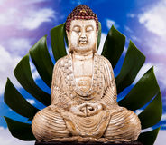 Zen of a buddha, vivid colors, natural tone Royalty Free Stock Photos